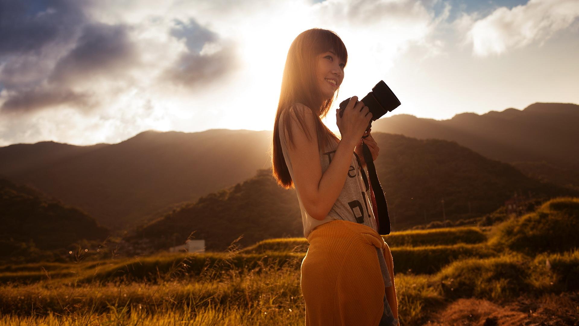 Девушка фотограф  № 524867  скачать