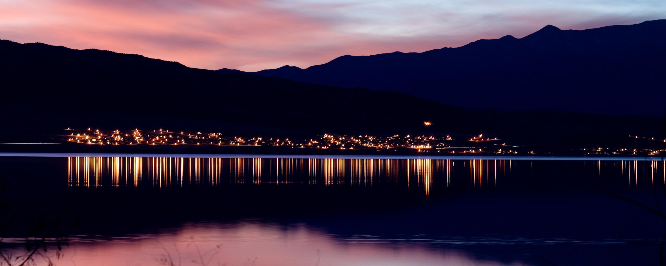 огни город море сумерки lights the city sea twilight  № 2659514  скачать
