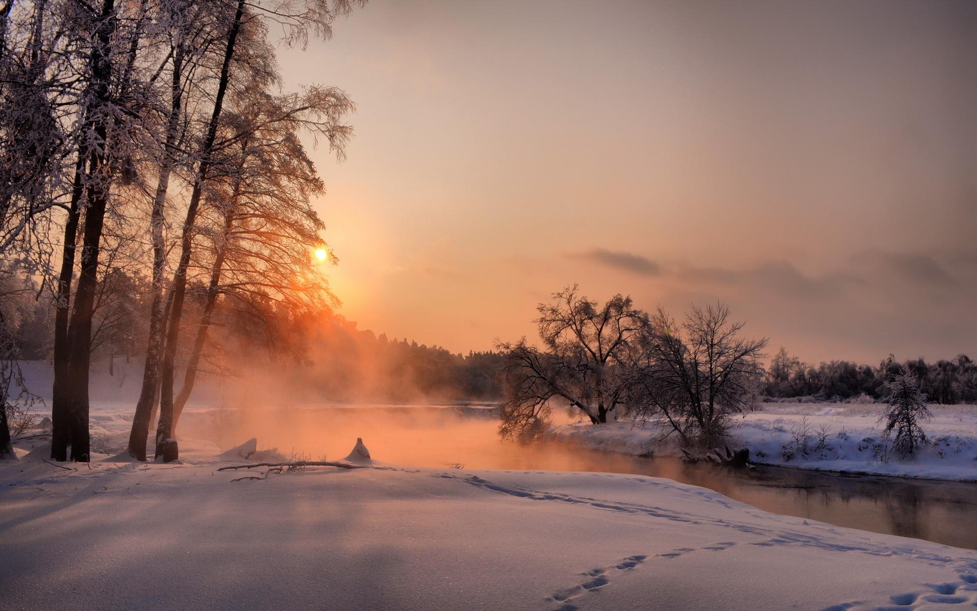 закат над снежной степью  № 831880 без смс