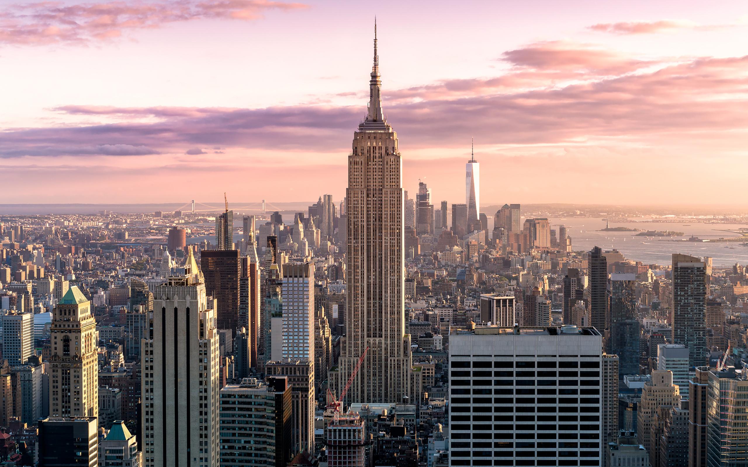 Обои skyline, new, manhattan, york. Города foto 9