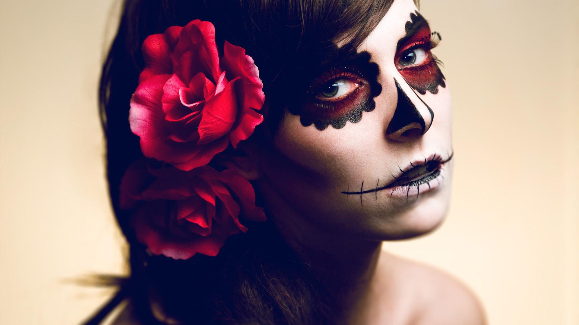 девушка лицо роза онлайн