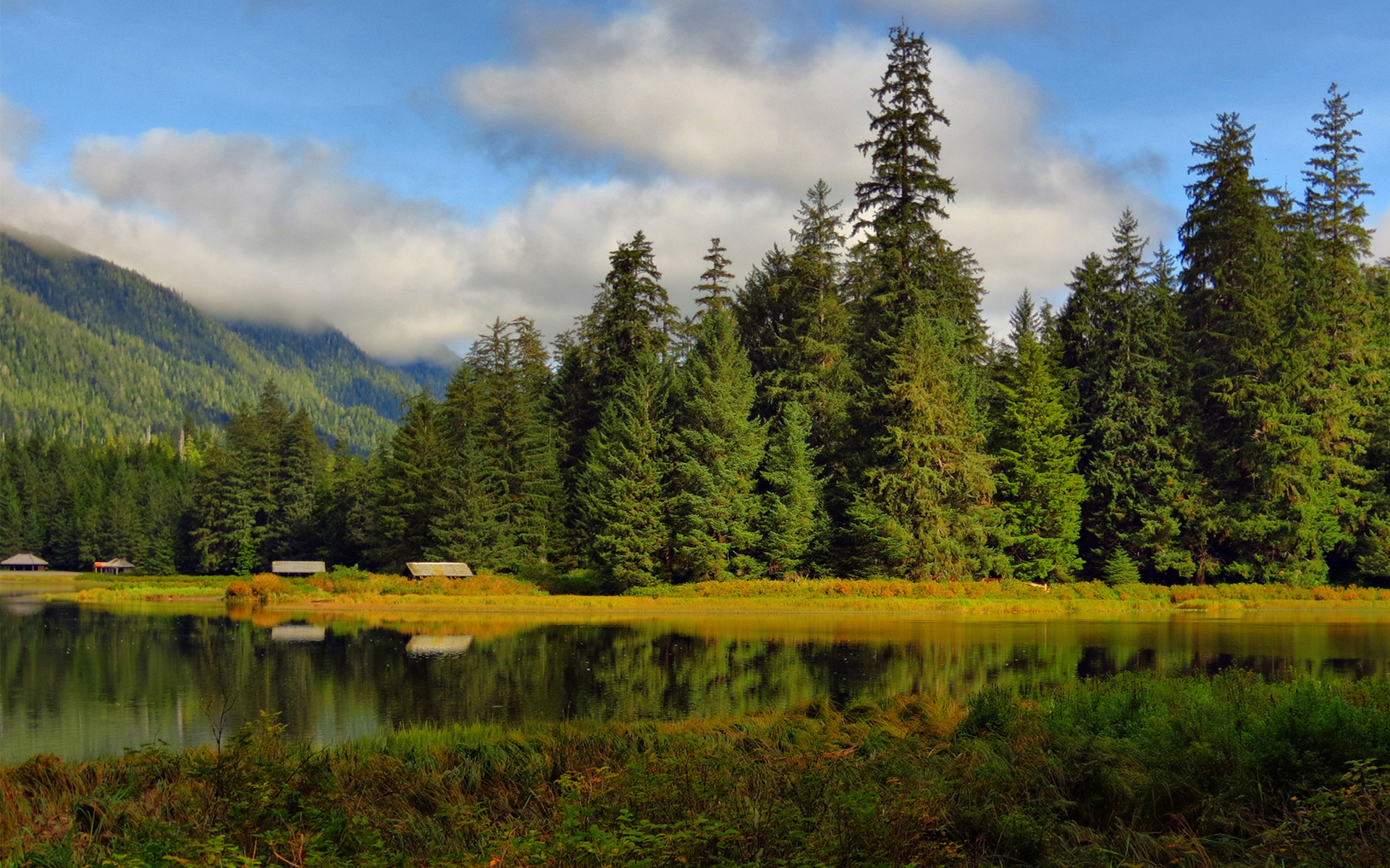 Озеро холмы  № 582590 бесплатно