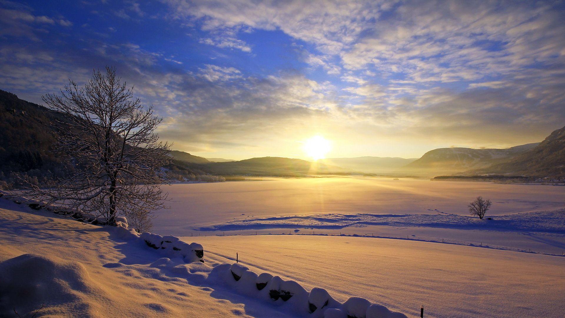Зимний рассвет загрузить