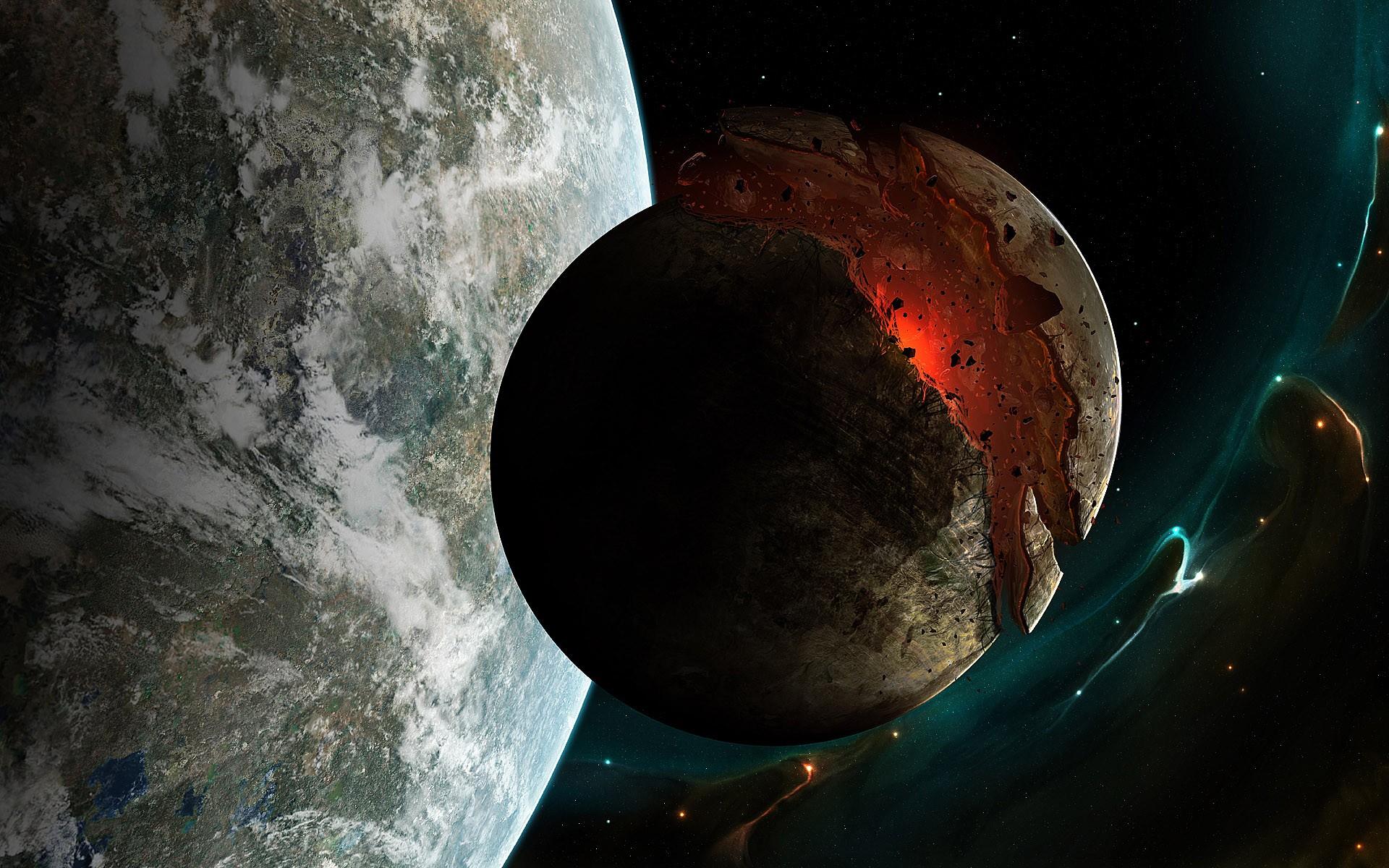 Обои Разрушенная планета, корабль картинки на рабочий стол на тему Космос - скачать  № 3552436 бесплатно
