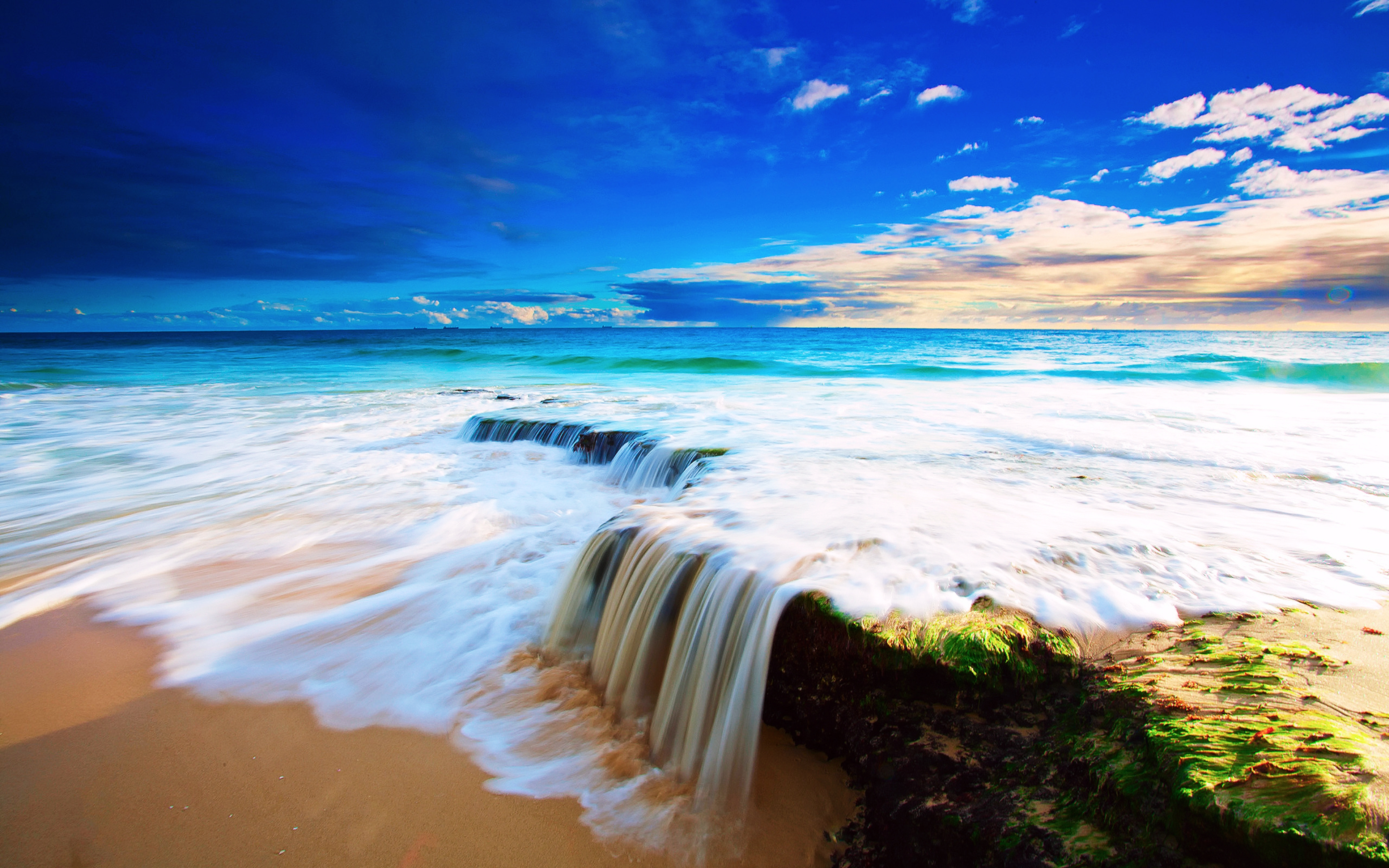 природа море берег горизонт волна  № 1011131  скачать