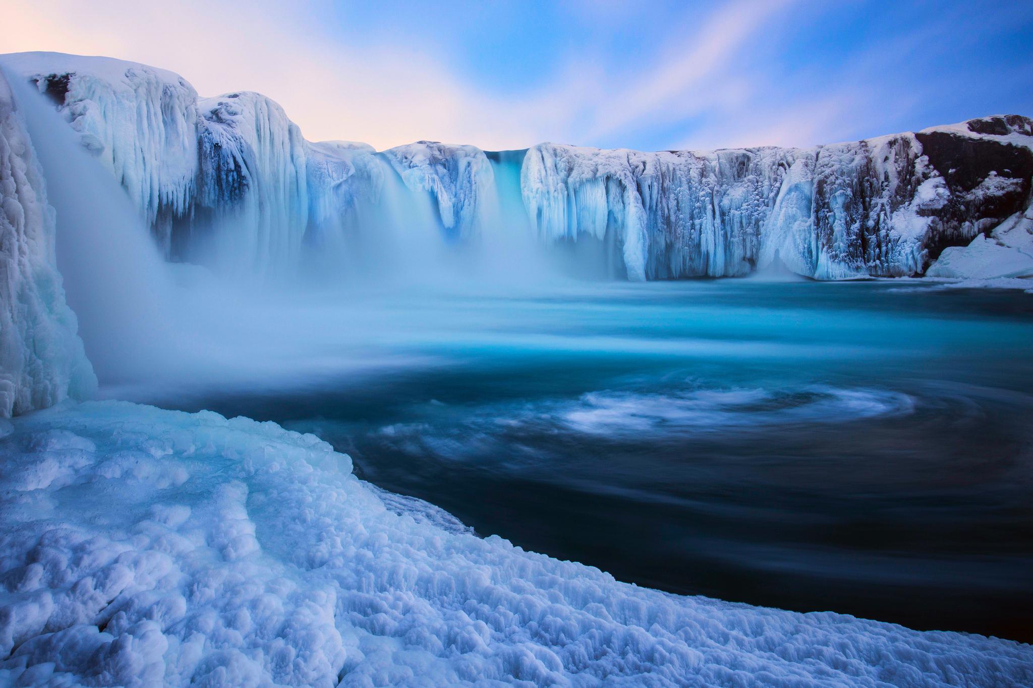 Зимний водопад  № 2946866  скачать