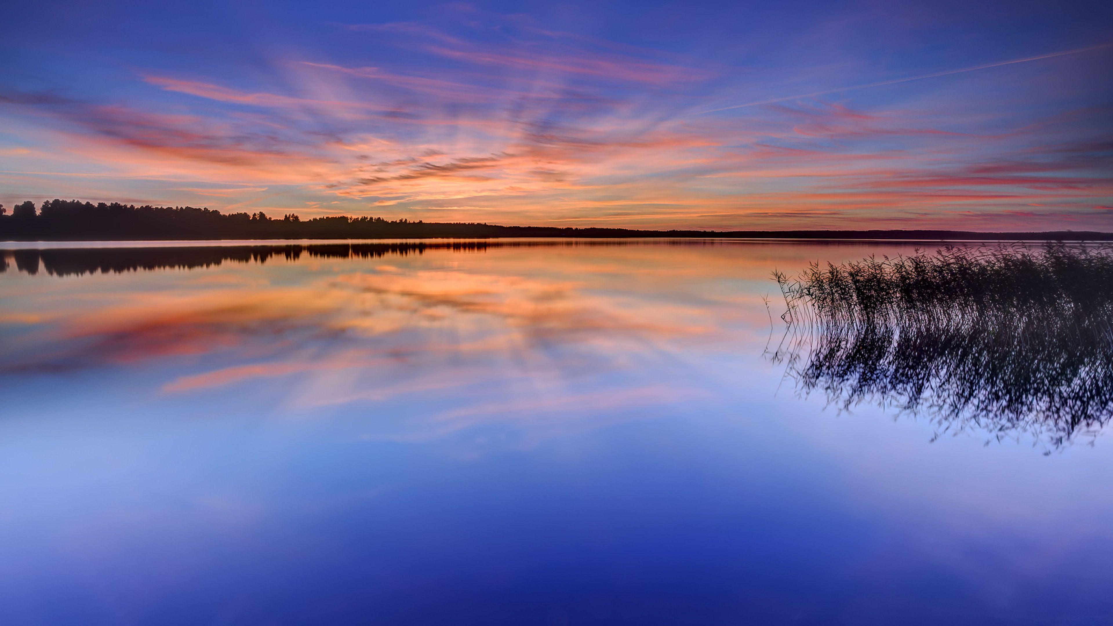 небо озеро деревья загрузить