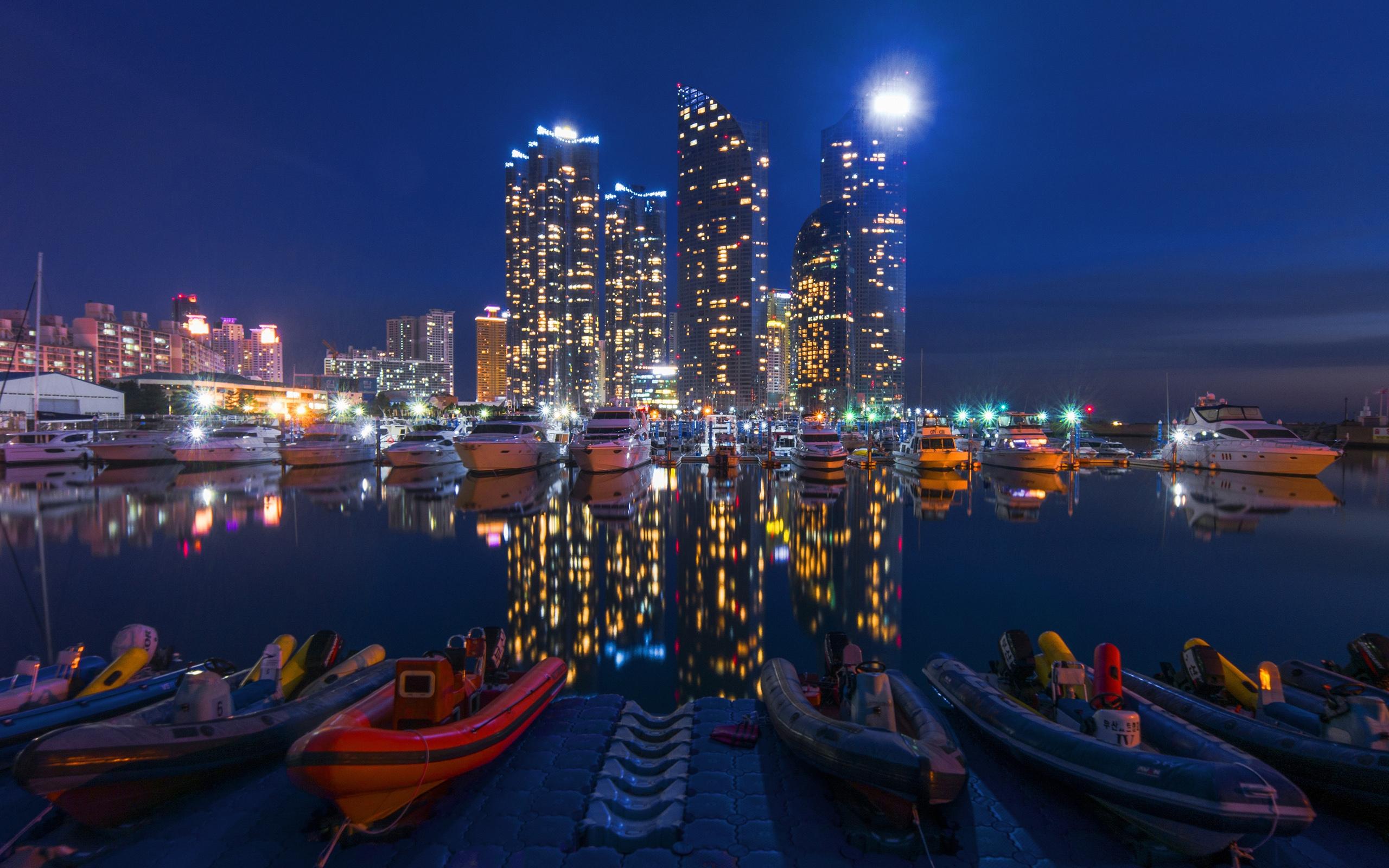 город ночь освещение отражение  № 3927601  скачать