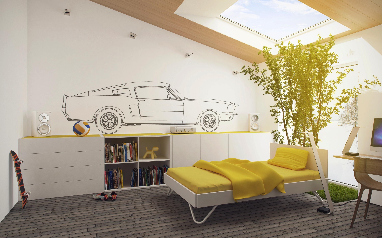 Комната в желто-белом стиле загрузить