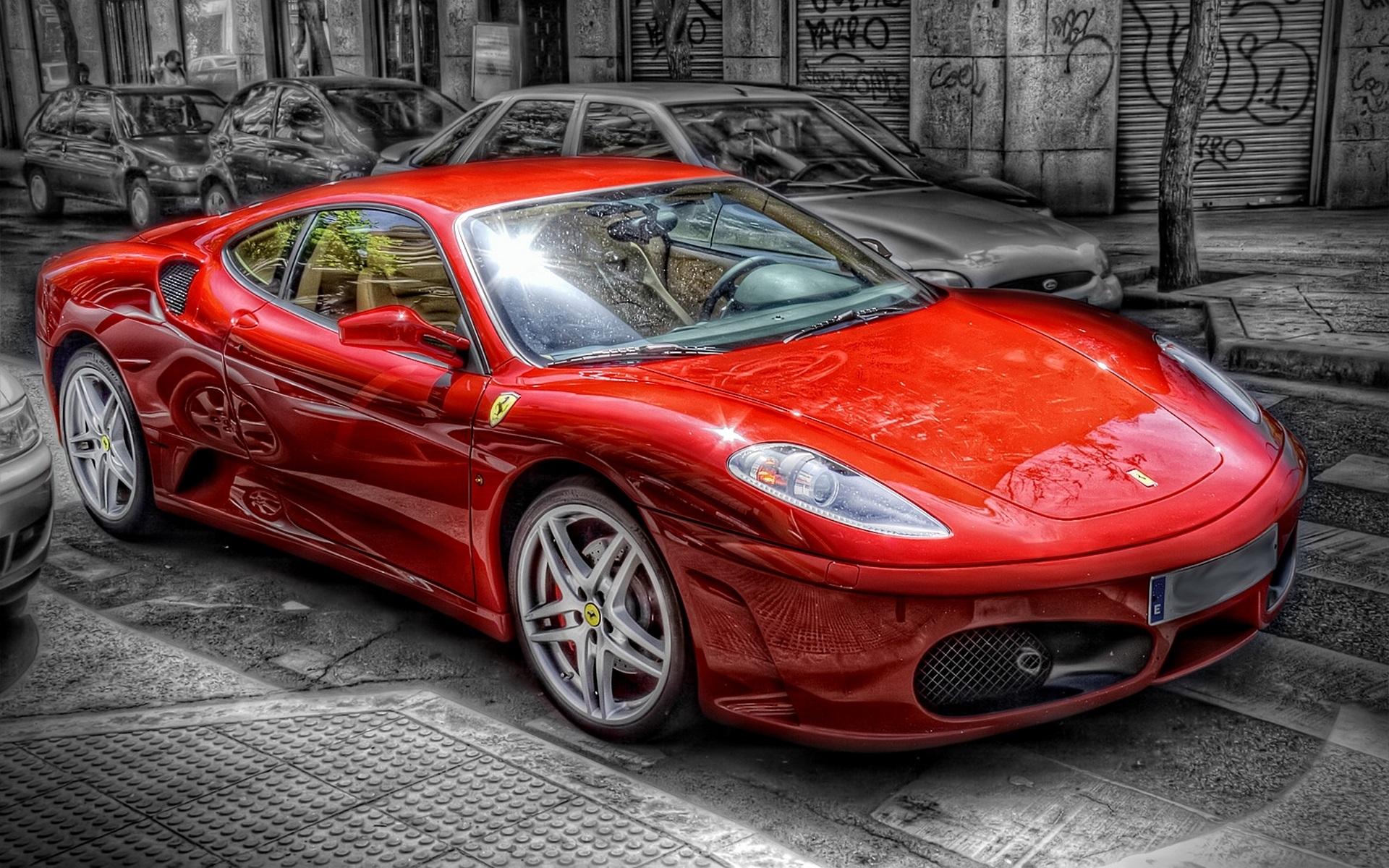 Автомобиль красный Ferrari  № 2893629 загрузить