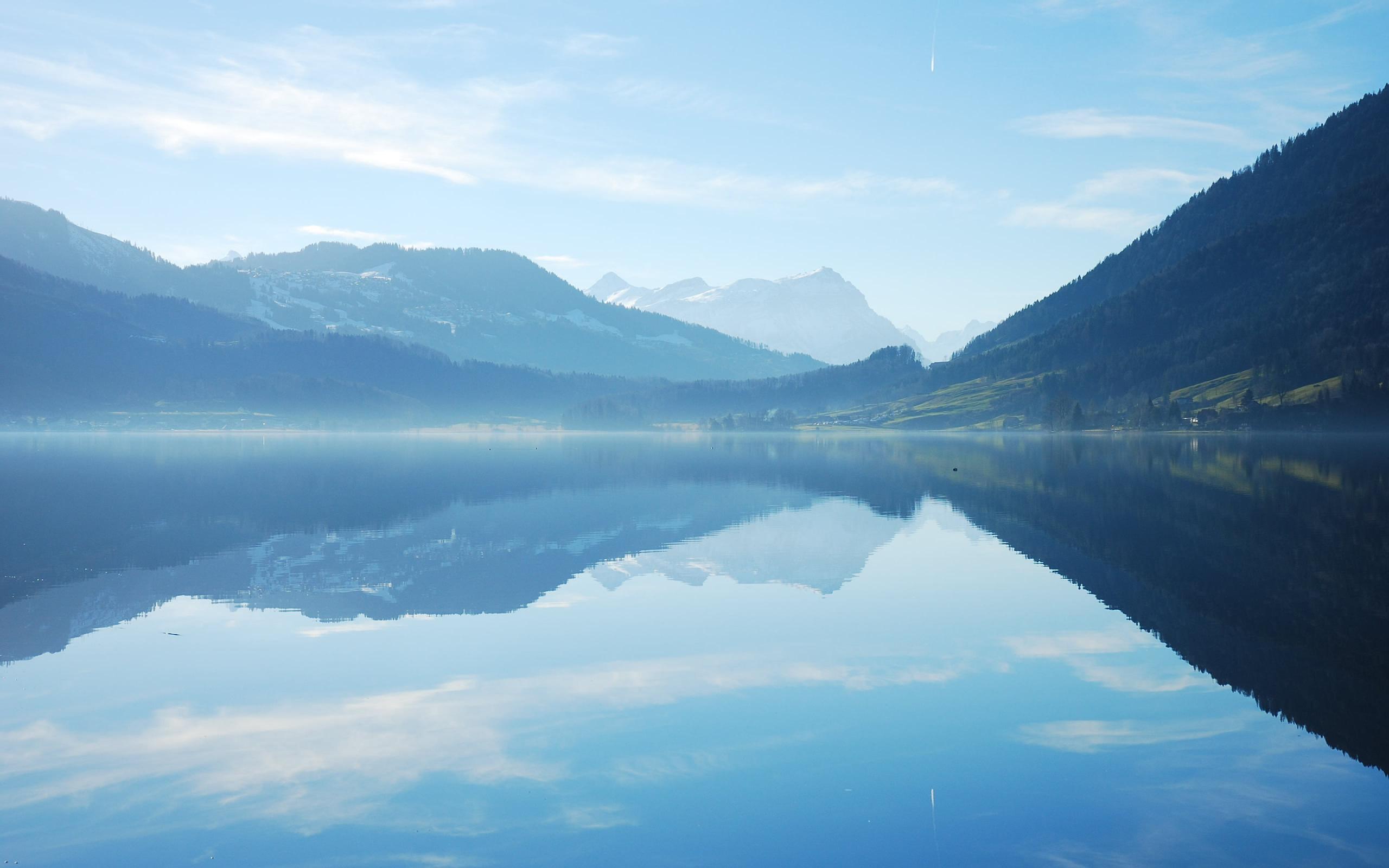 Небо горы озеро  № 2790038  скачать