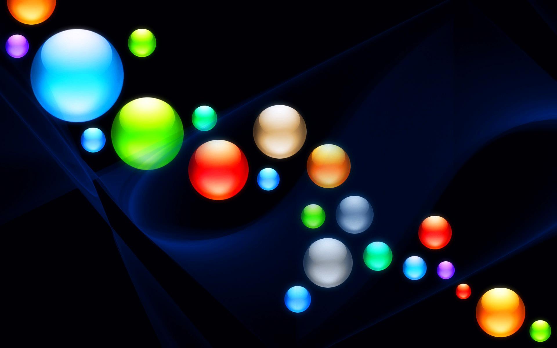 Огни цветные шарики  № 3561020  скачать