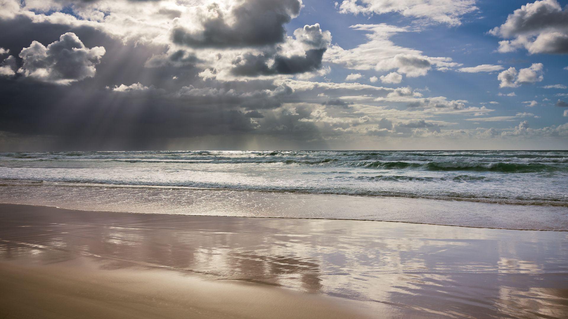 пейзаж небо море лучи загрузить