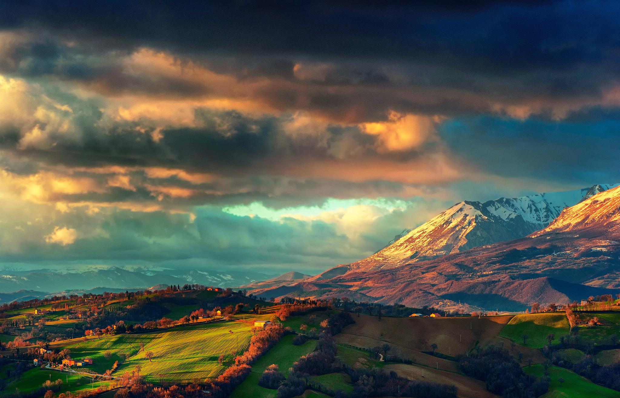 пейзаж гористый ландшафт небо загрузить
