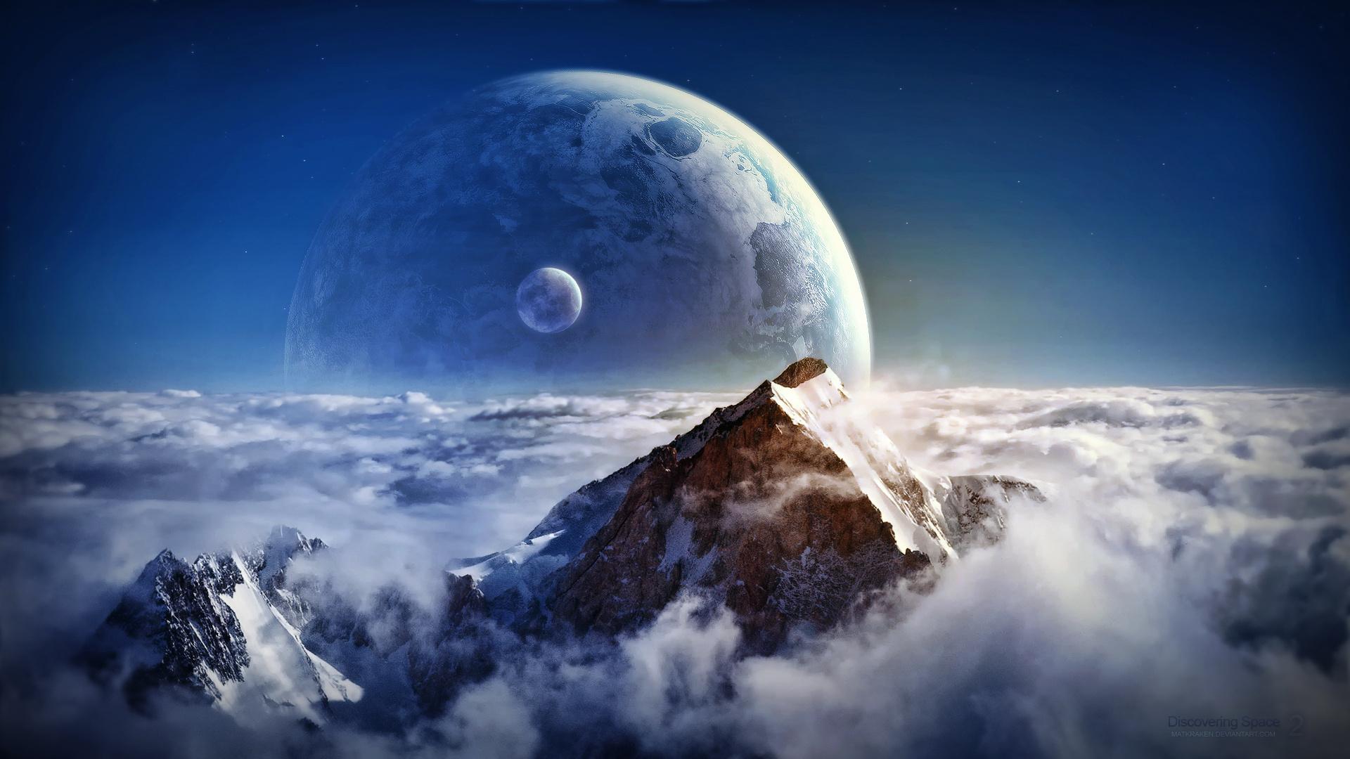 Обои планета спутник картинки на рабочий стол на тему Космос — скачать в хорошем качестве