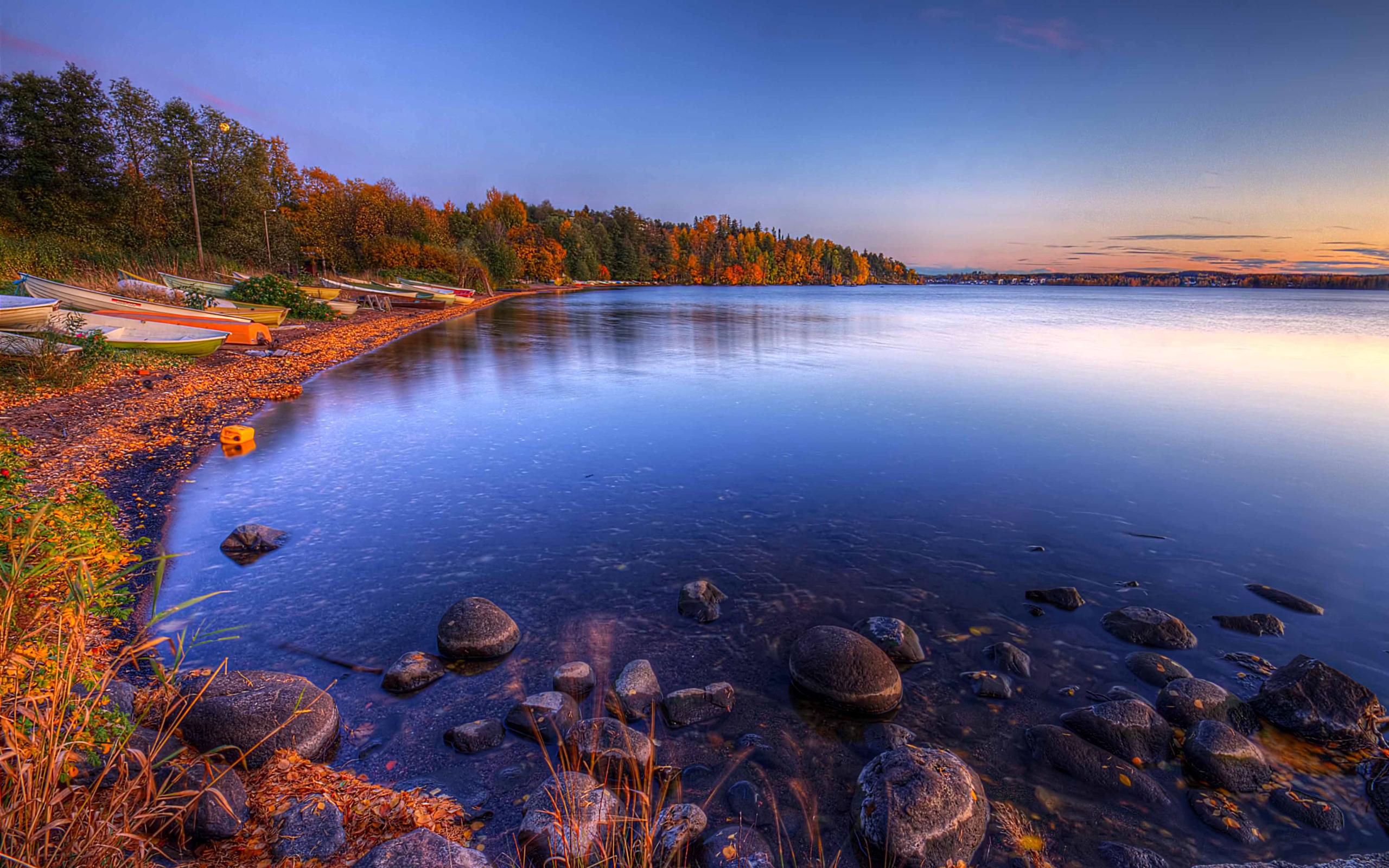 Осеннее озеро скачать