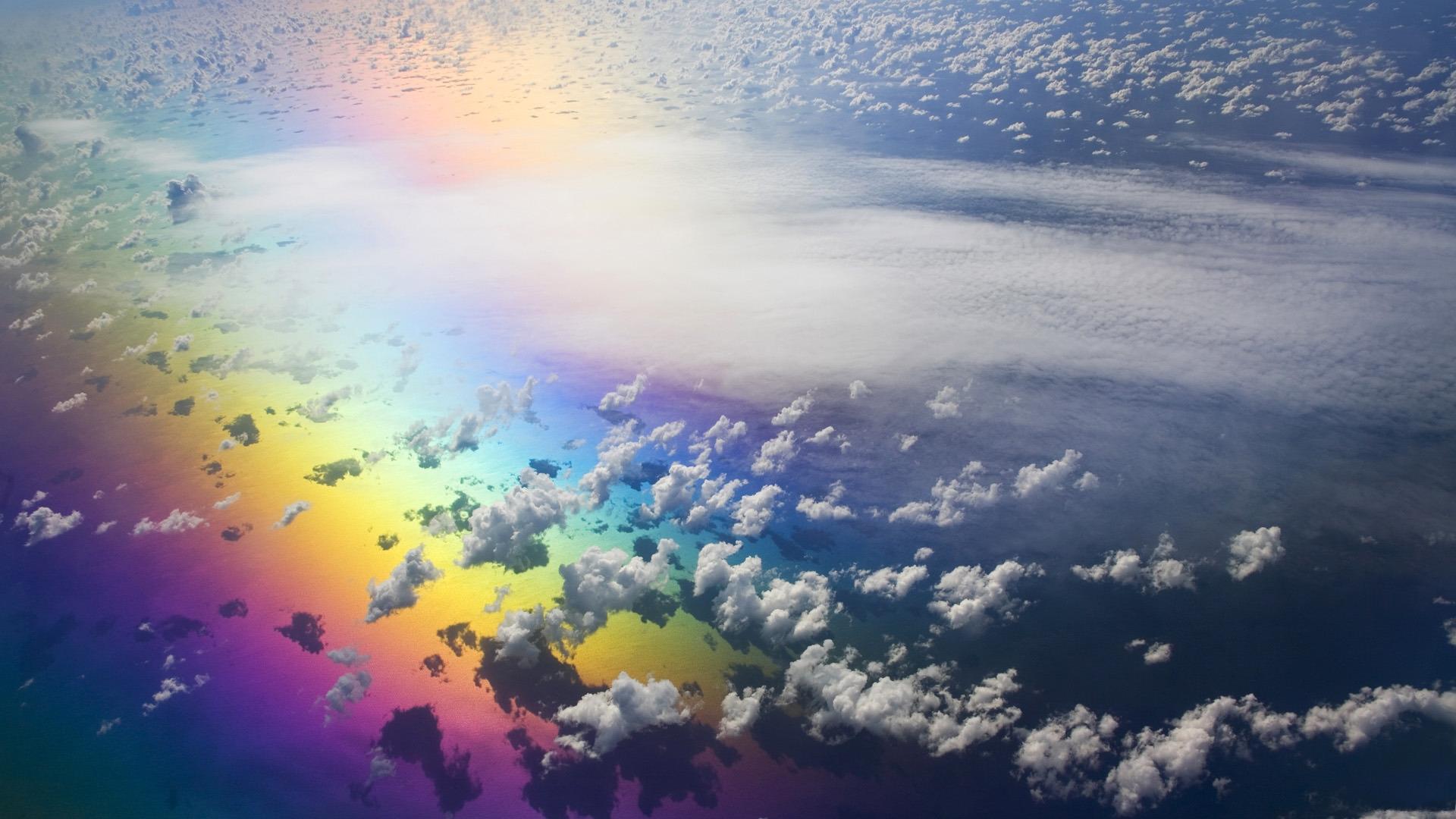 природа волна радуга вода  № 1039568 бесплатно
