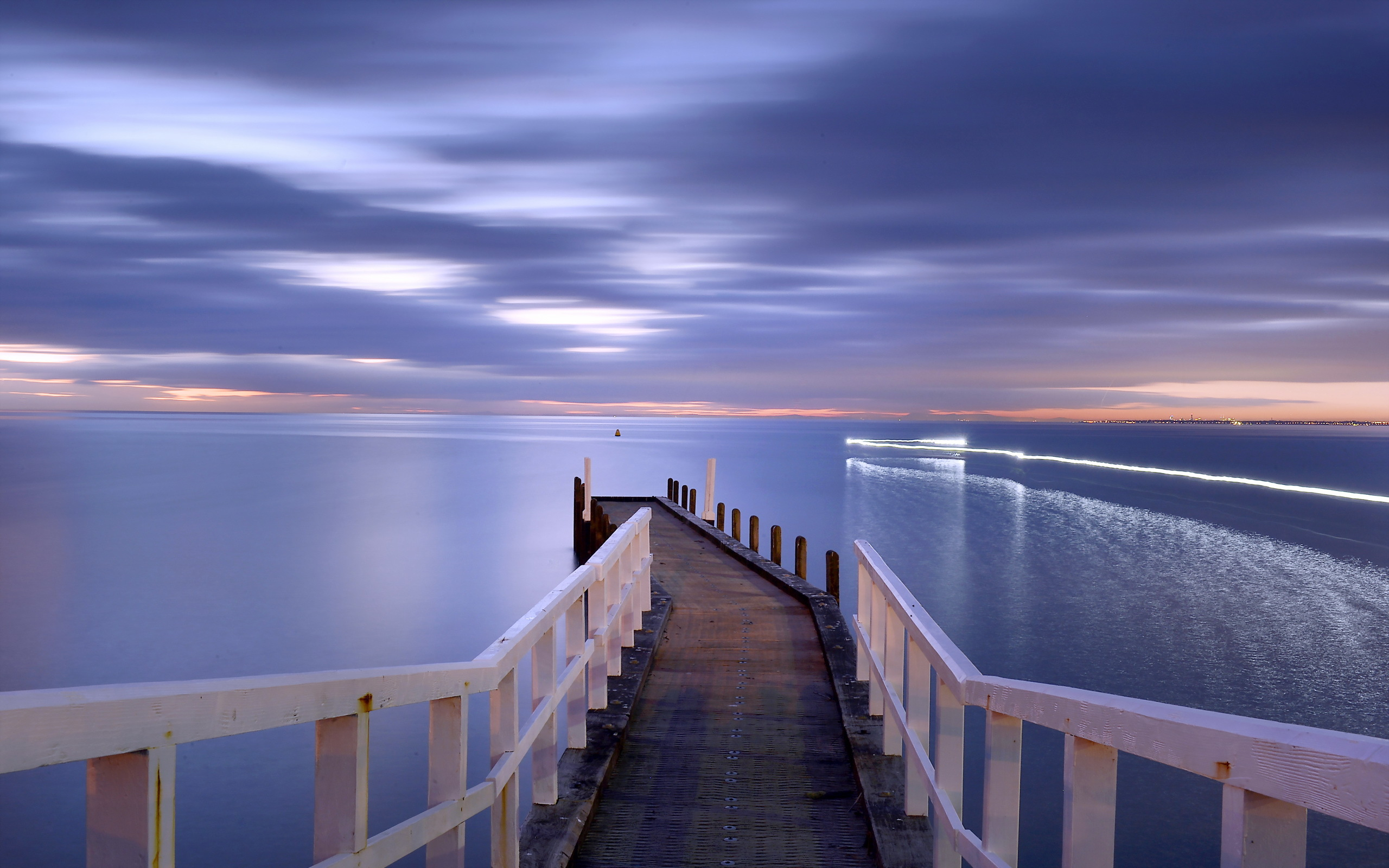причал фонари берег море pier lights shore sea  № 2555083 загрузить