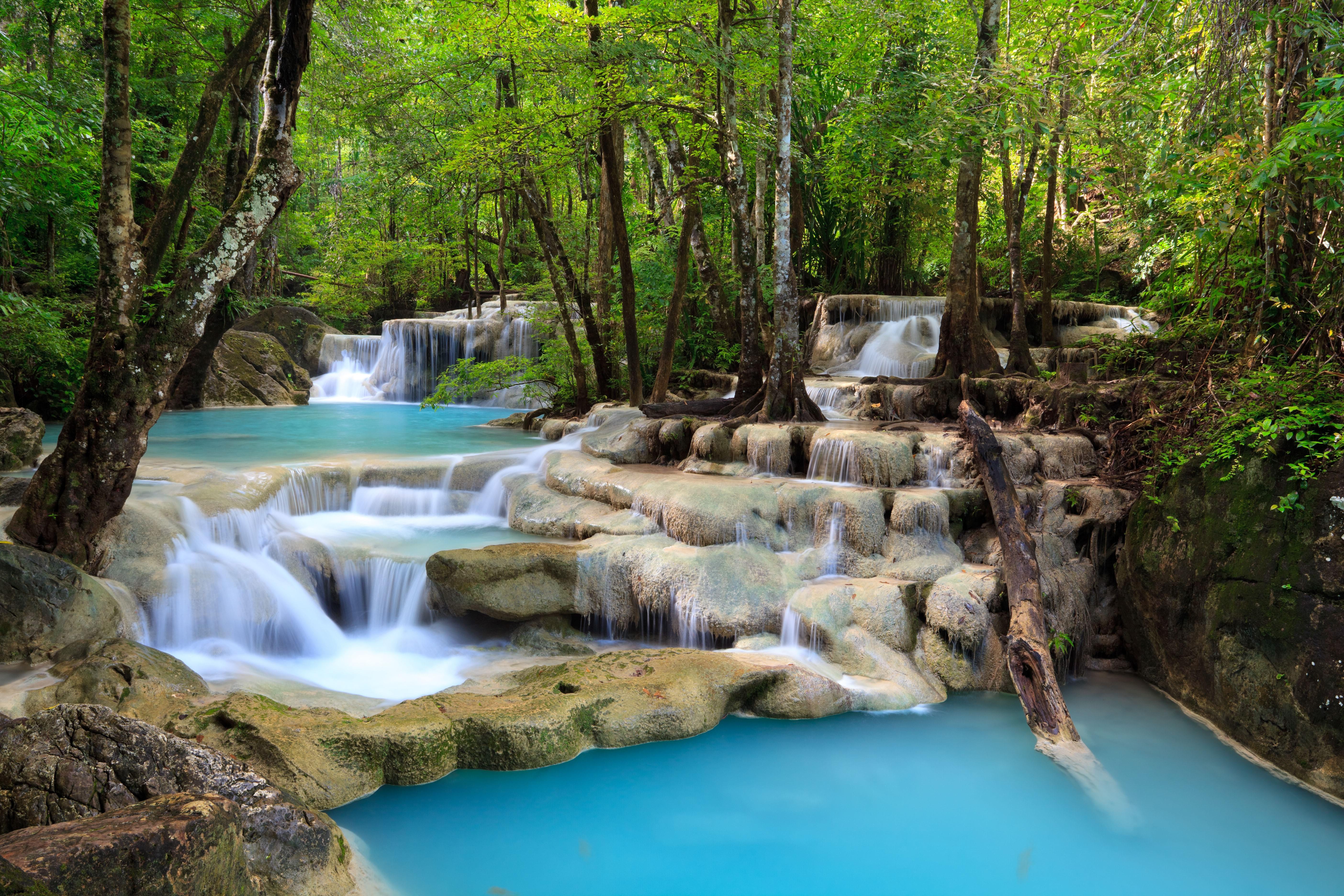 водопад деревья озеро  № 3898805 без смс