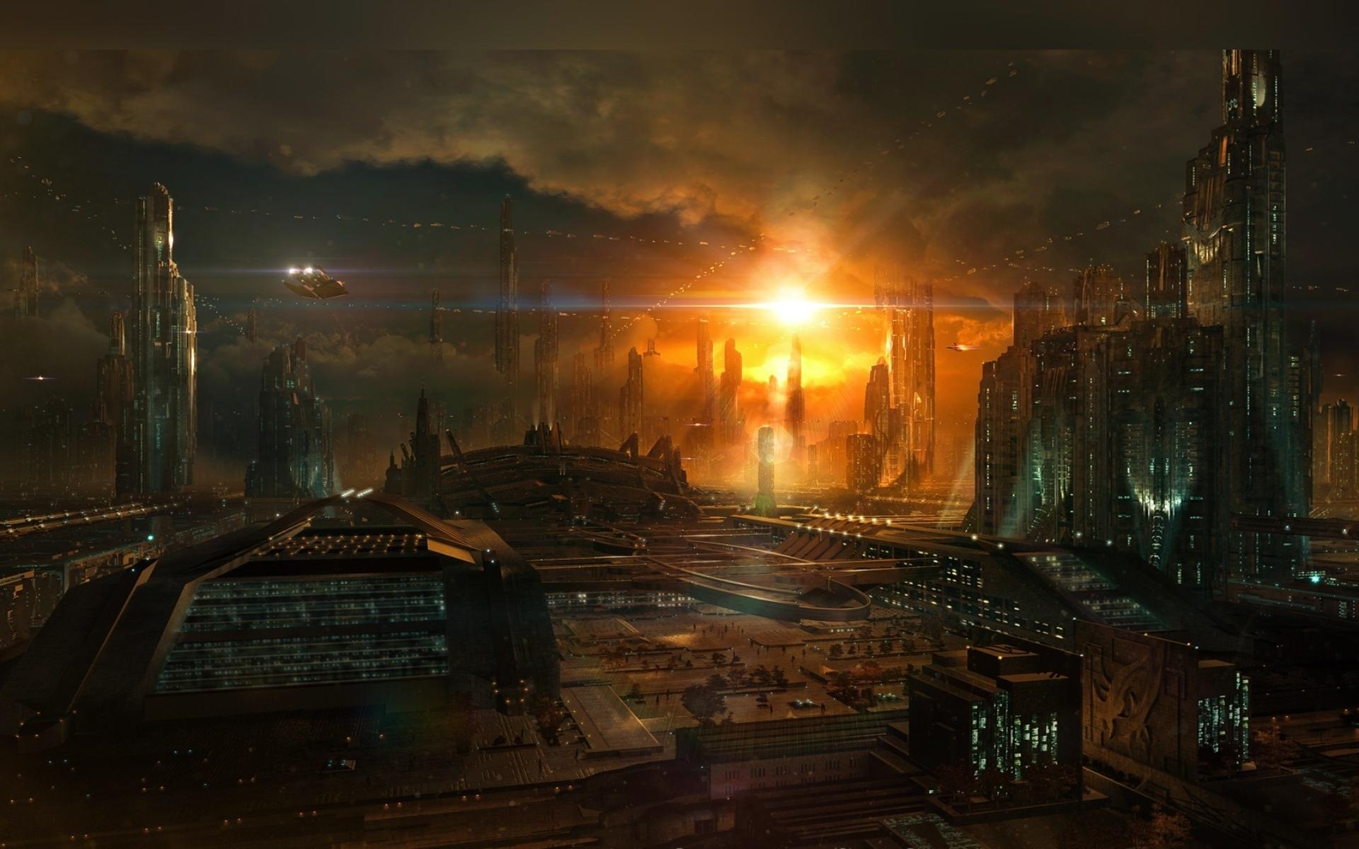 Картинки города фантастика