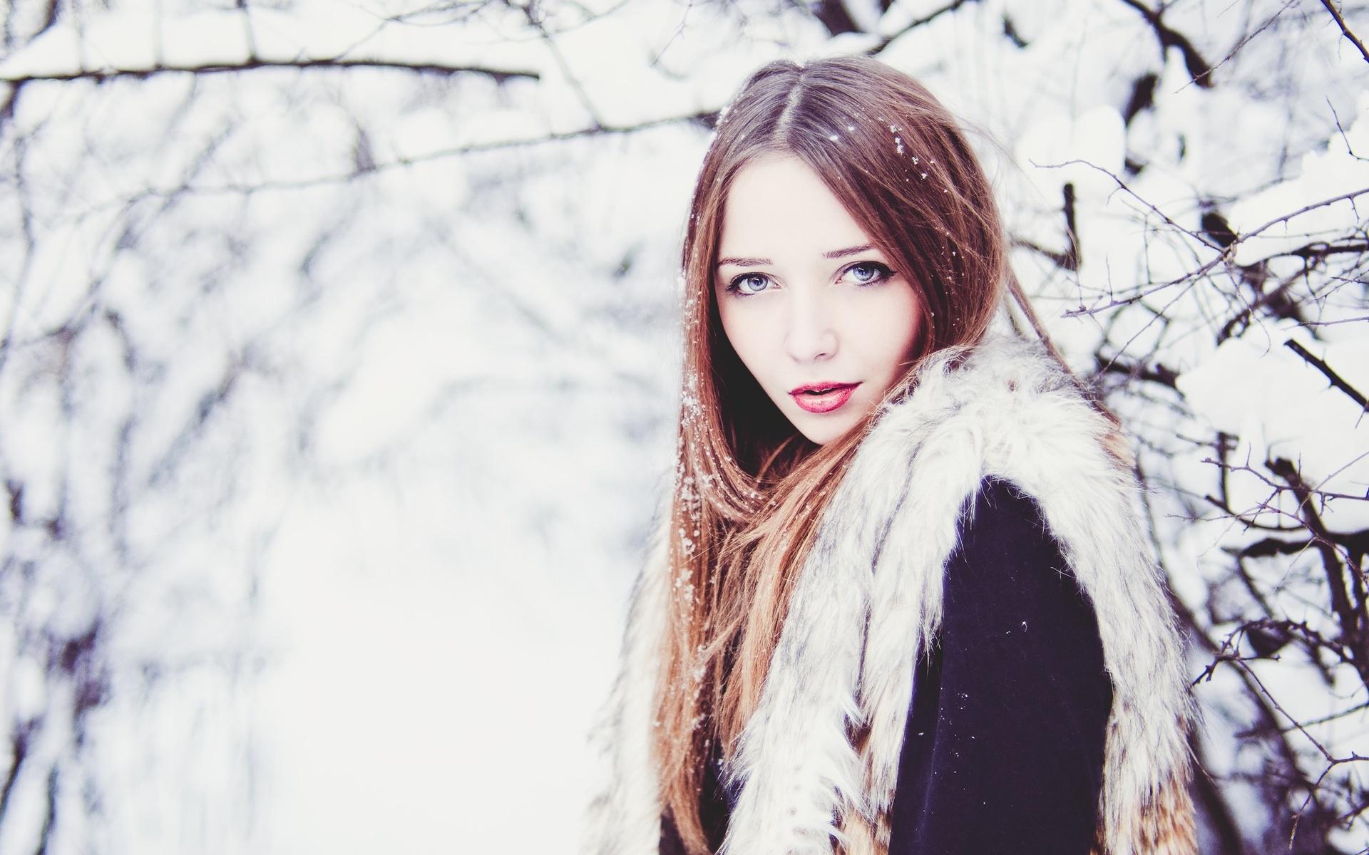 Картинки девушек зима снег, для мамы