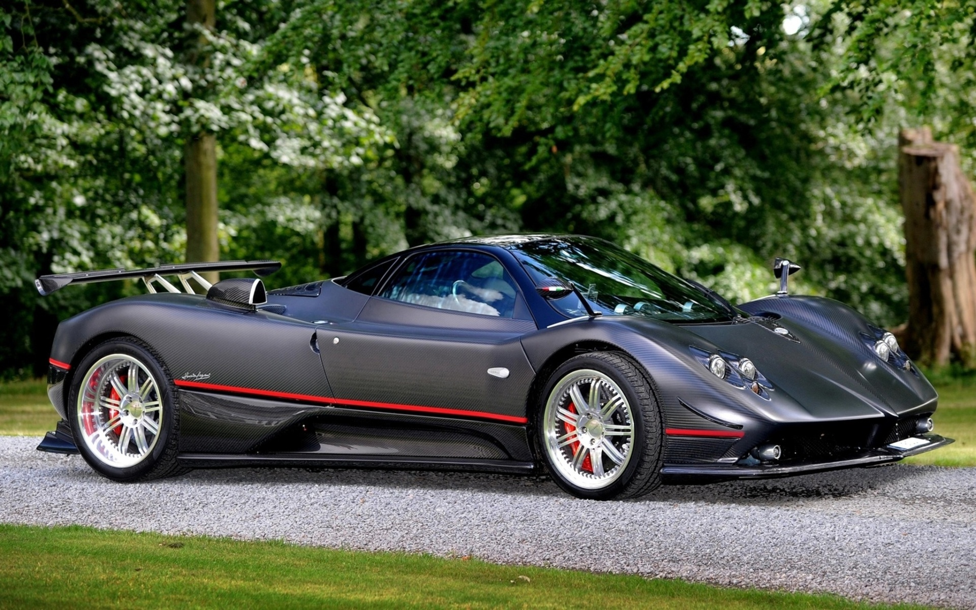 серый спортивный автомобиль pagani zonda r  № 1060232 бесплатно