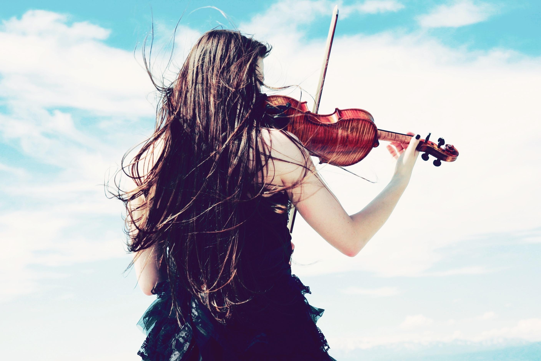 Девушка скрипка  № 707582 загрузить