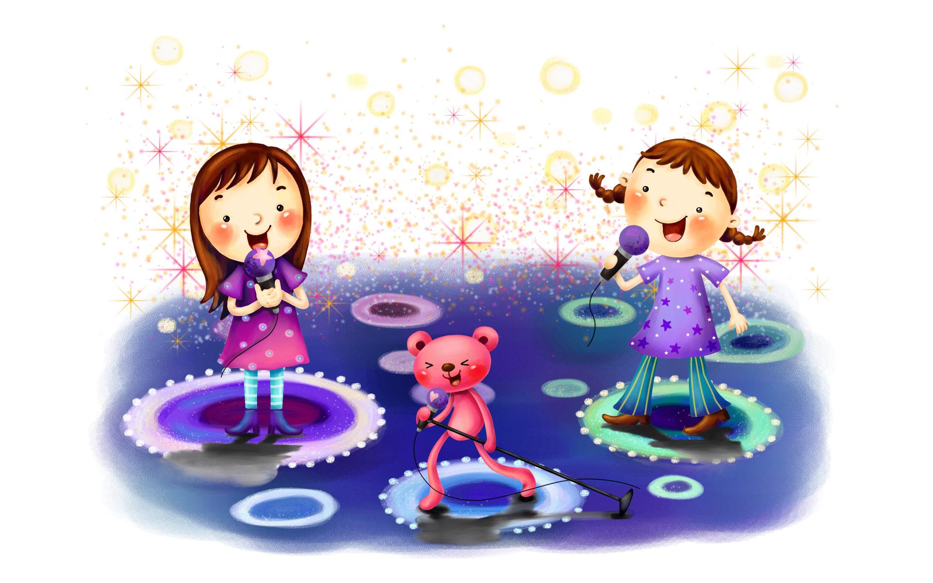 Дети, музыкальные картинки с детьми