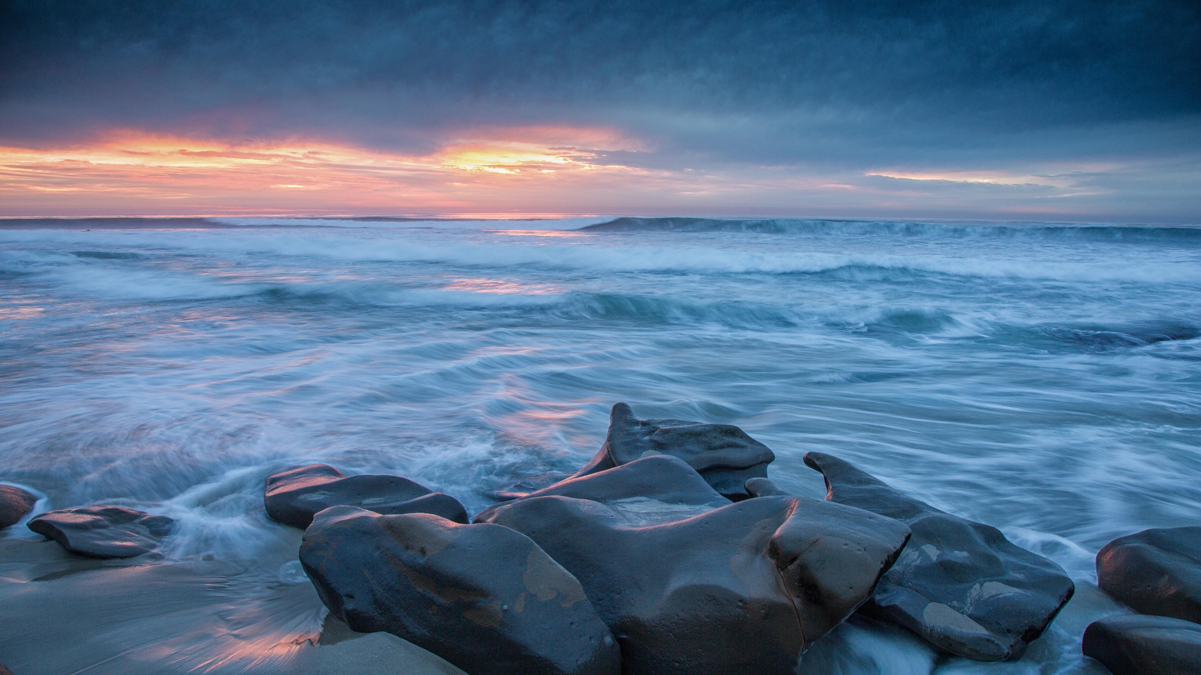 природа море горизонт камни облака небо скалы  № 432421 без смс