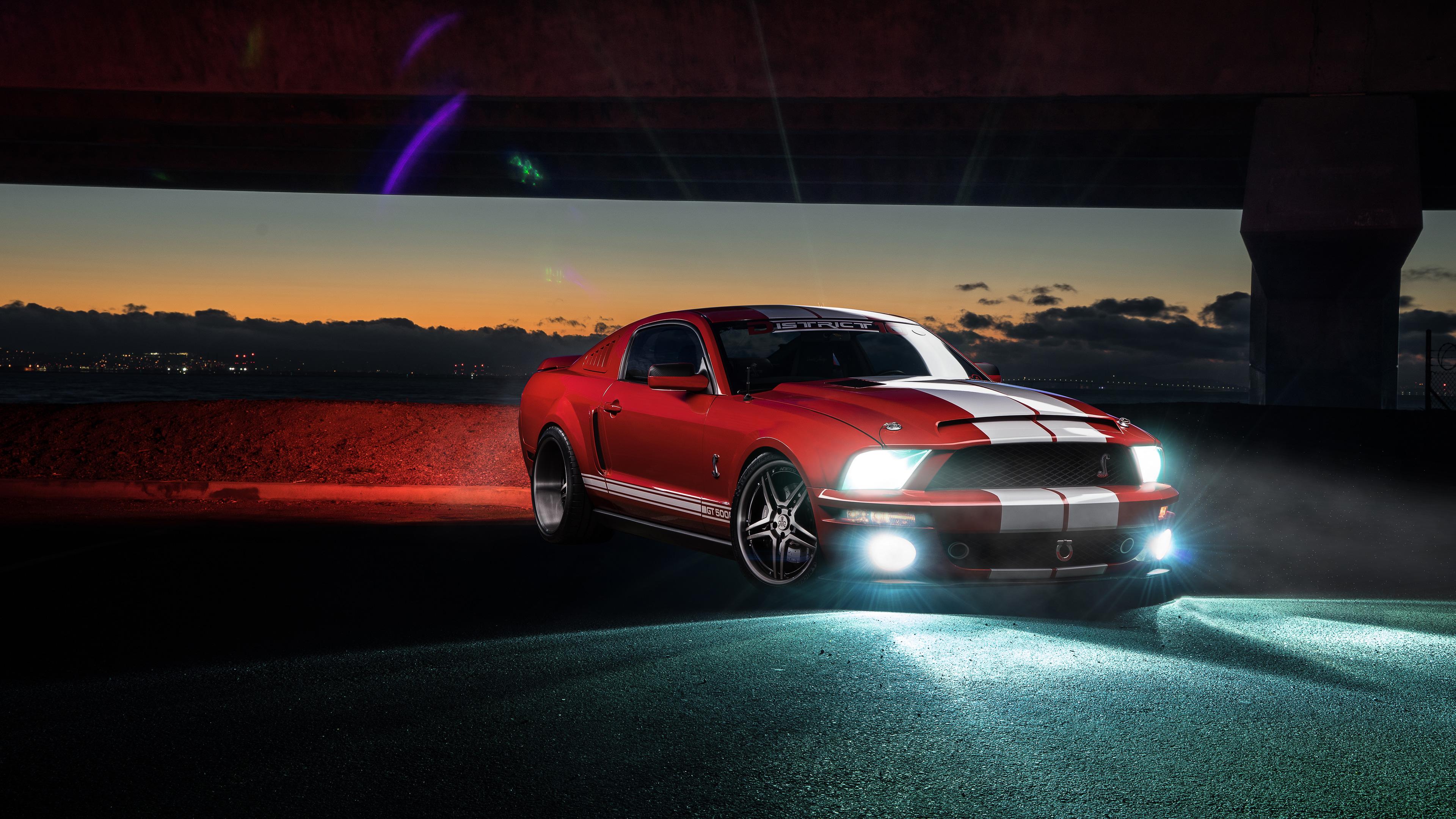Ford Mustang дорога ночь скачать