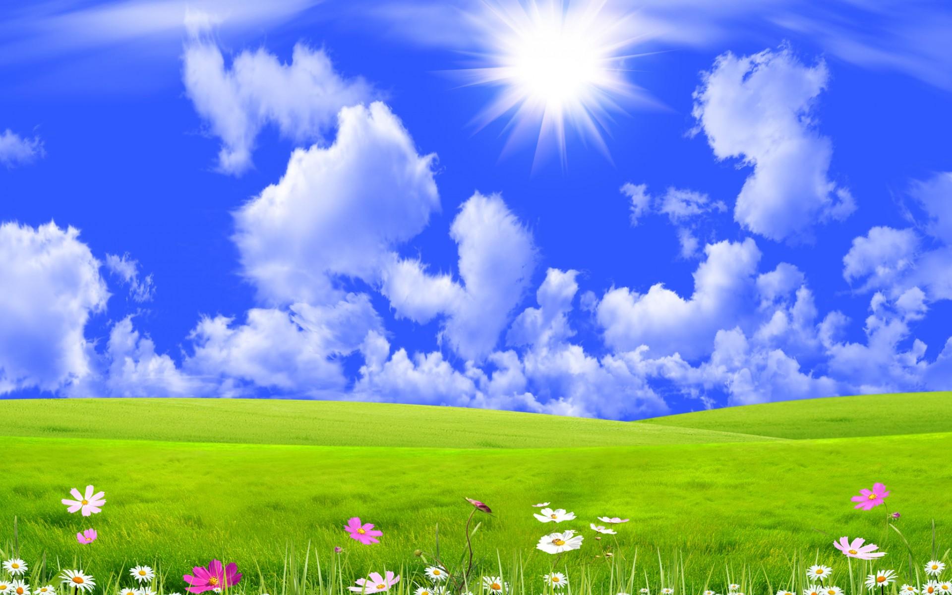 Оригинальные, картинка с небом и солнцем