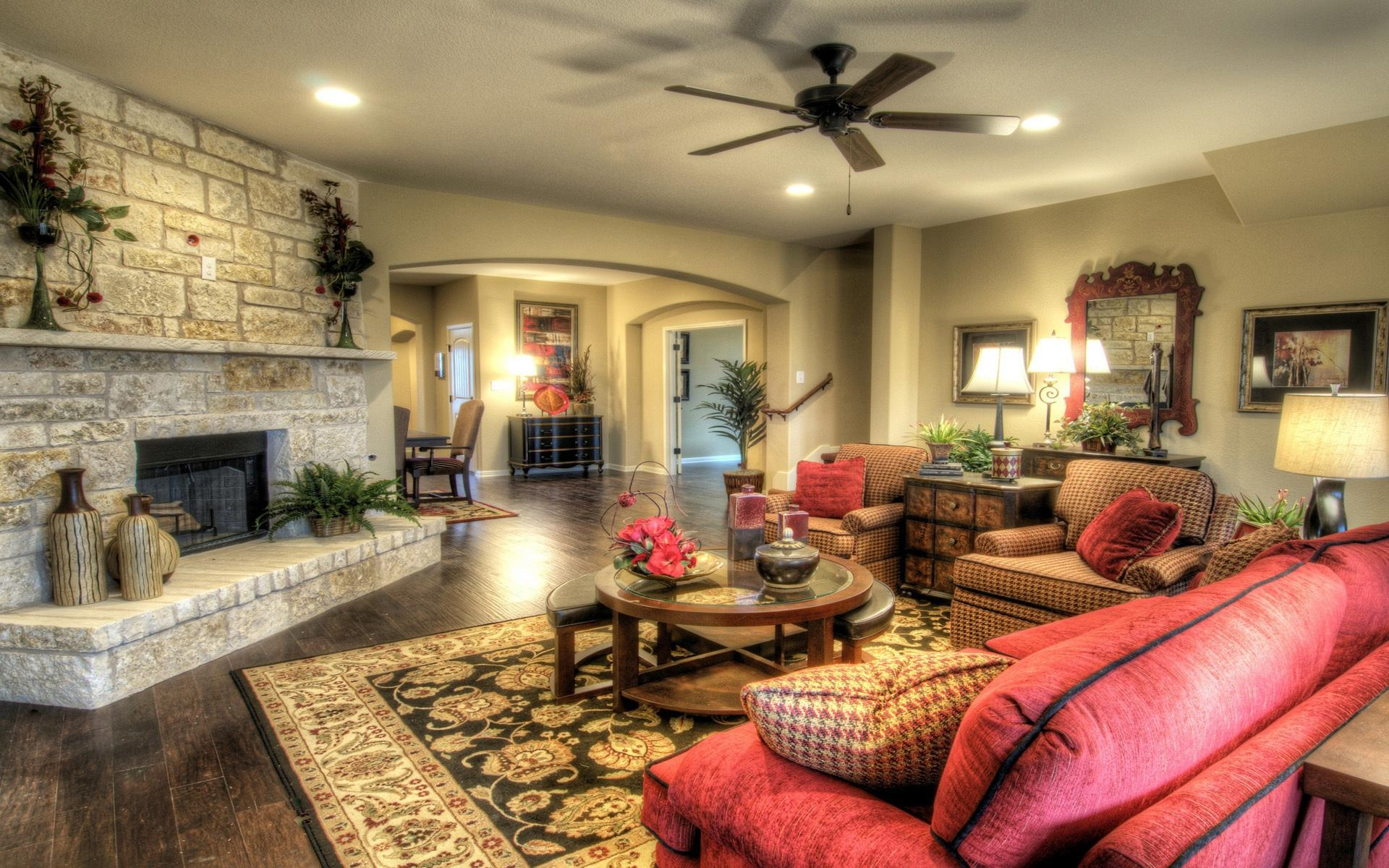 интерьер комната камин стол ковер interior bathroom fireplace table carpet загрузить