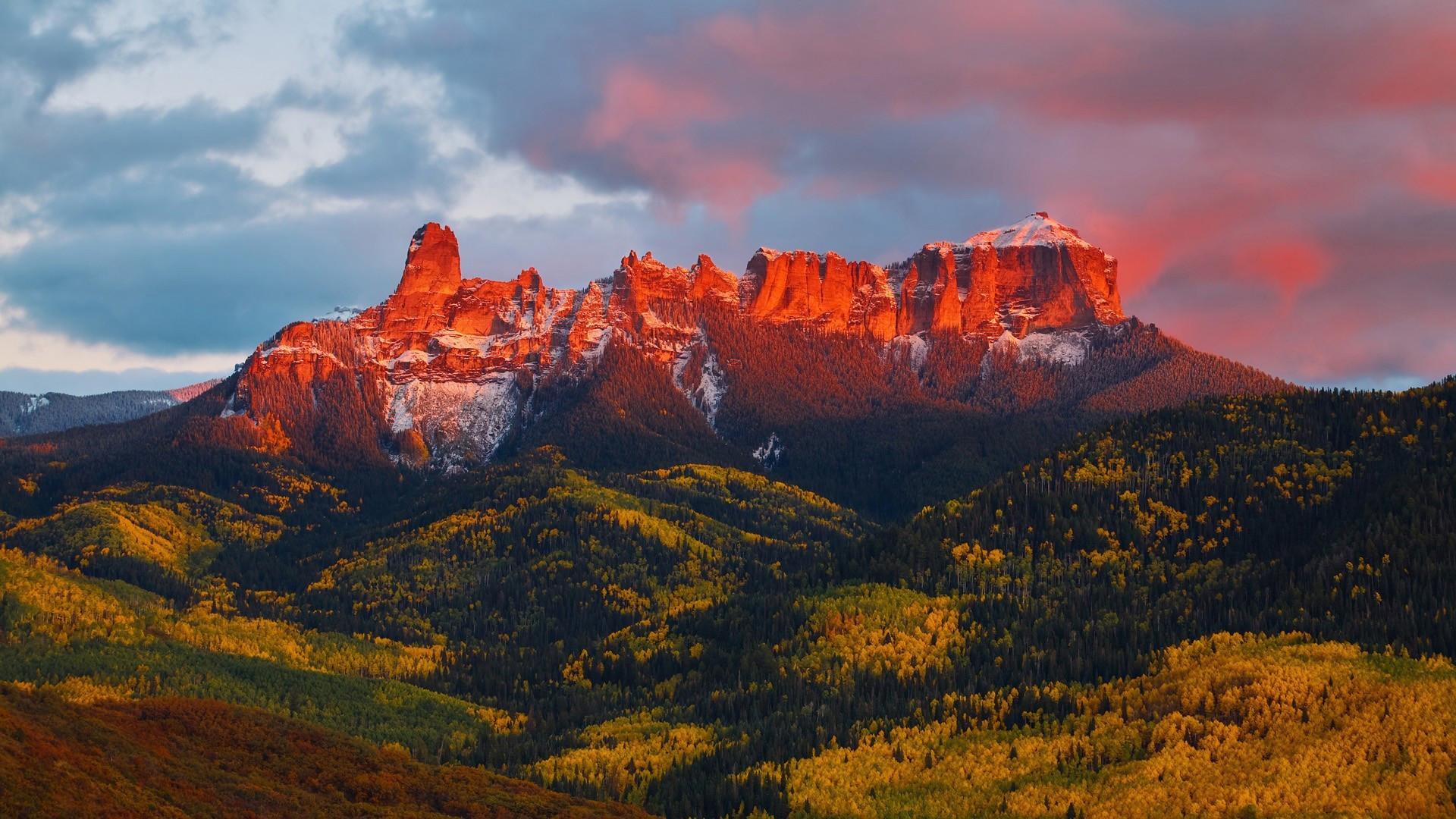 скалы горы закат  № 371282 загрузить