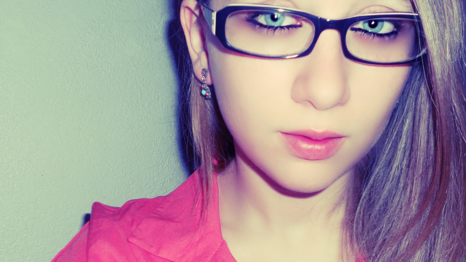 девушка очки волосы загрузить
