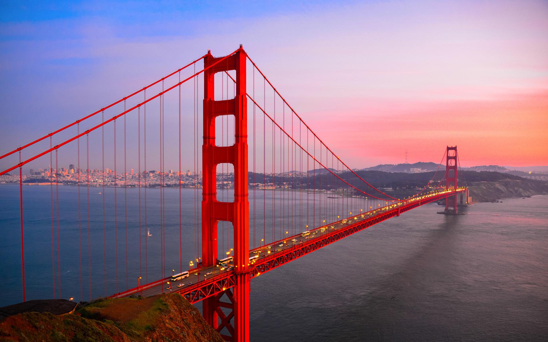 мост на красном закате загрузить