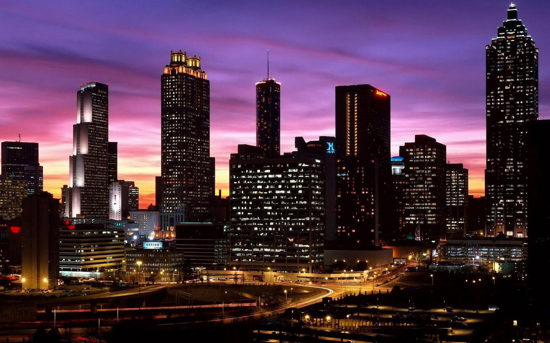 небоскребы ночь город  № 3358900 загрузить